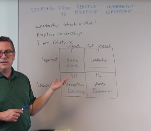 Reactive Management to Adaptive Leadership